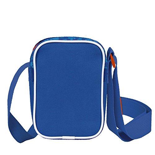 Paw Patrol Umhängetasche für Jungen - Kleine Umhänge für Kinder mit Marshall, Chase und Rubble - Schultertasche für Reisen und Freizeit - Blau - 18x12.5x6 cm - Perletti