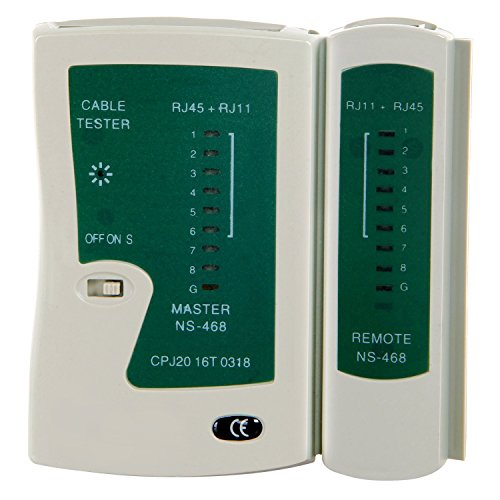 SGILE Network Lan Cable Tester Test Tool for RJ45 RJ11 RJ12 CAT5 CAT 6 UTP - Crimp Utp Cable
