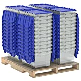 Akro-Mils 98486CLDBL 12-Gallon Plastic Storage KeepBox with Attached Lid, 21-1/2'' by 15'' by 12-1/2'', Semi Clear, Pallet of 48