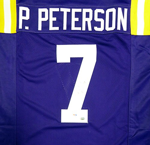 (LSU Tigers Patrick Peterson Autographed Purple Jersey PSA/DNA)