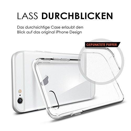 Spigen Coque + Film de protection iPhone 6/6S (Liquid Crystal Etui Crystal Clear + 3x Film de protection d'écran) [Spigen Protect Pro]