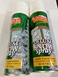 2 Bottles The Christmas Shop Deluxe Snow Spray