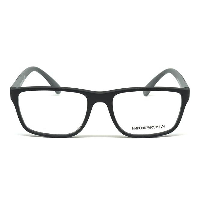572418970a5 Armani EA3091 Eyeglass Frames 5042-53 - Matte Black at Amazon Men s  Clothing store