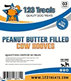 123 Treats - Filled Cow Hooves - Delicious Peanut