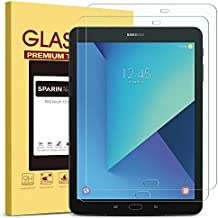 [2 Pack] SPARIN Galaxy Tab S3 / Galaxy Tab S2 9.7 Screen Protector - S Pen Compatible / Tempered Glass / Scratch Resistant / Bubble Free for Samsung Galaxy Tab S3 / Galaxy Tab S2 9.7 inch