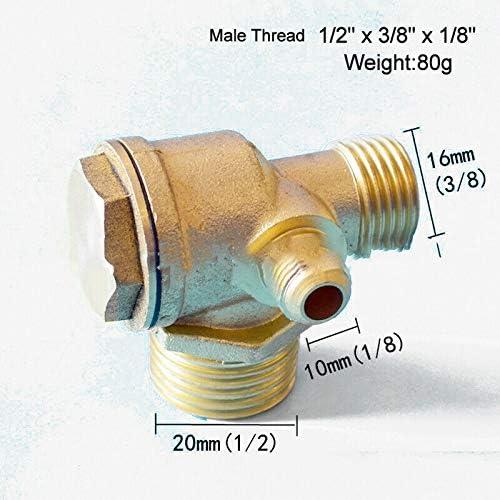 BE-TOOL R/ückschlagventil Kompressor R/ückschlagventil 3-Wege-Luftkompressorventil f/ür Direktluftkompressor weiblich, 1,27 x 1,27 x 1,27 x 1,27 cm