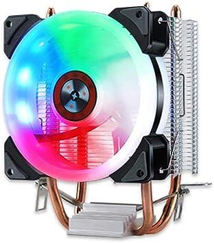 Womdee RGB CPU Cooler, disipador de Calor CPU, Ventilador de Color ...