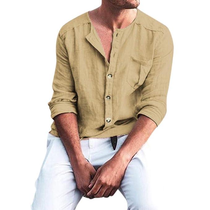Amazon.com: Henley Camisas de manga larga básica para yoga ...