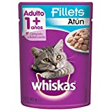 Whiskas Sobre Alimento Húmedo Fillets Atún, paquete de 8 piezas con 85 gr cada uno.