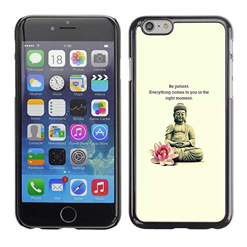 Plastic Shell Protective Case Cover || Apple iPhone 6 Plus 5.5 || Flower Meditation Quote @XPTECH