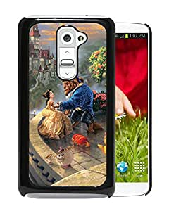 Beautiful Designed Cover Case For LG G2 With Beauty and the Beast Black Phone Case