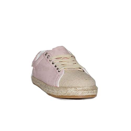 PRIMAR Shoes - Zapatilla Lona Esparto Noemi T0139 Zapatillas Lonas Mujer Azules Beige Casuales Urbanas Moda Verano: Amazon.es: Zapatos y complementos