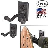 US2U Displays – 2 Pack - Skateboard or Longboard Mount for Flat Surface – US06-FW-S2