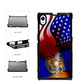 Armenia and USA Mixed Flag Plastic Phone Case Back Sony Xperia Z1 includes Bl...
