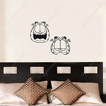 Amazoncom Custom Color PopDecals Funny Garfield Removable - Custom removable vinyl decals