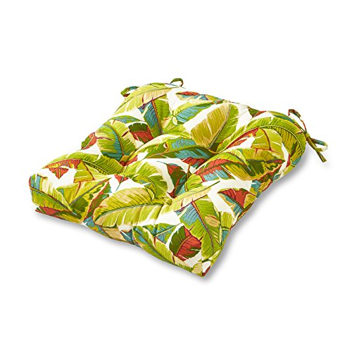 Tropical Chairs - Greendale Home Fashions Indoor/Outdoor Chair Cushion, 20-Inch, Palm Multi