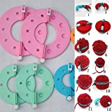 Lucrative shop Random Color 1Set 4 Sizes 8 PCS Pom Pom Maker Fluff Ball Weaver Needle Knitting