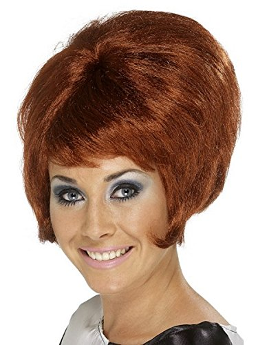 Smiffy's Women's 60's Short Auburn Beehive Wig, One Size, 5020570422717 (Beehive Costume Wig)