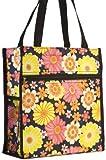 Cheap Floral Print Tote Bag (Brown) (Black)