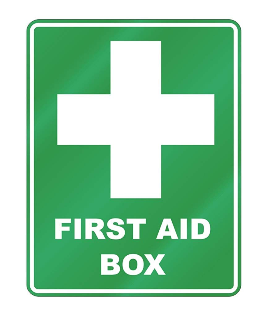 Parking Sign Aluminum Metal Utilitaries Ca565urs First Aid Box