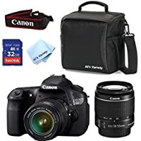 Canon EOS 60D Camera Body with Canon 18-55mm IS II + Al's Variety Deluxe Gadget Bag + 32GB Bandwidth Memory Card + Al's Variety Premium Cleaning Cloth + Top Value Bundle