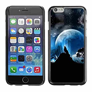 """2015 popular Shell-Star ( Full Moon Wolf Wolves Howl Stars ) Snap On Hard Protective Case For 4.7"""" iPhone 6"""