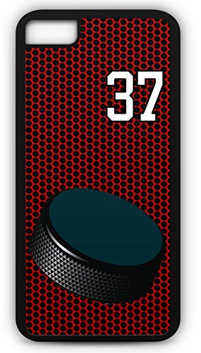 iPhone 6 Plus 6+ Phone Case Hockey H035Z by TYD Designs in Black Plastic Choose Your Own Or Player Jersey Number 37 (Iphone 6 Devils Hockey Case)