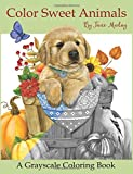 Color Sweet Animals: A Grayscale Coloring Book