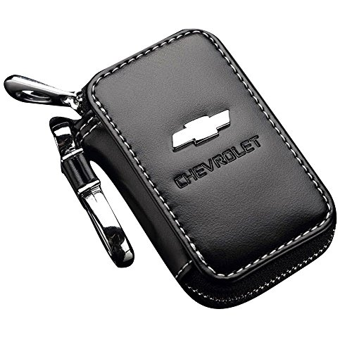 Bearfire Leather Car Key Case Remote Control package Auto Key Chains (Chevrolet)