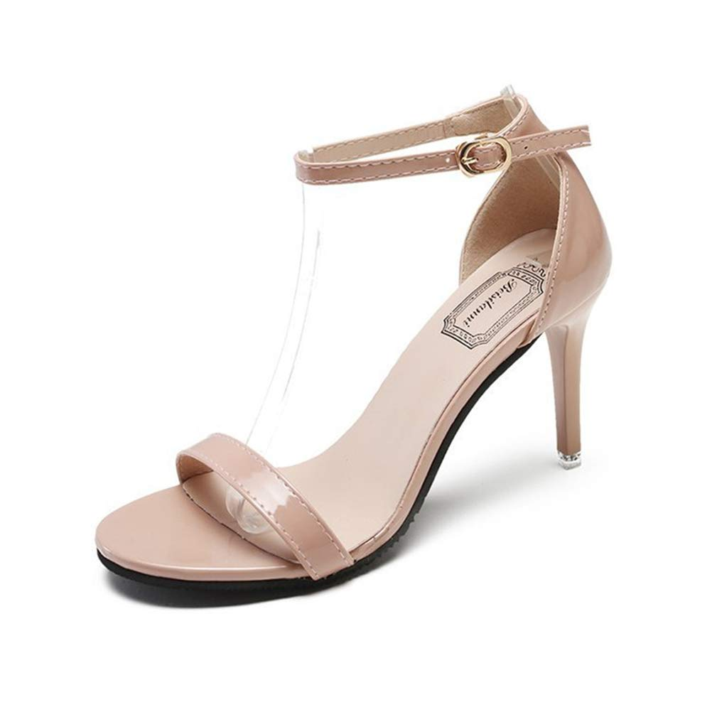c60dcab38f927 Nude Nude Nude Clear LLZY Women's Classic High Heel Sandals with ...