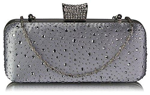 ANNA GRACE - Cartera de mano de Material Sintético para mujer Design 1 - Silver