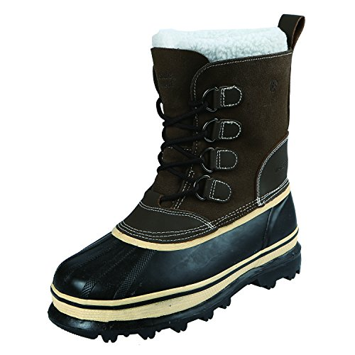 200g Pac Boots - Northside Men's 910826M Back Country Waterproof Padded Sherpa Collar Pack Boot,Brown,10 M US
