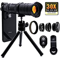 30X Cell Phone Camera Lens, 4 in 1 HD Phone Photography...