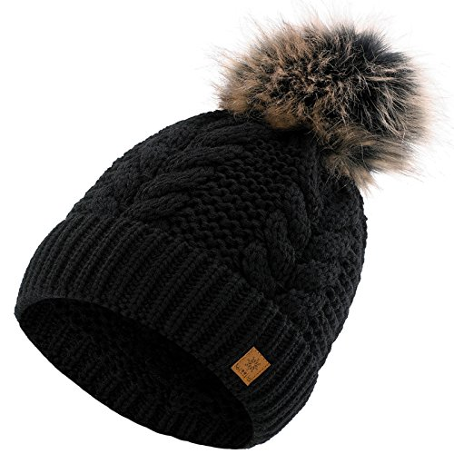black women hat worm hats pom beanie ski olivia ladies winter