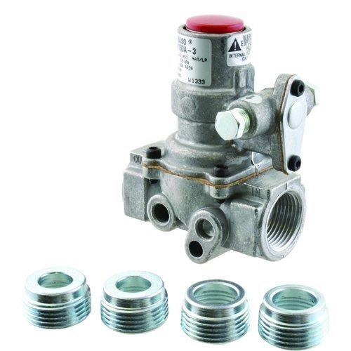 Series Gas Valve - BASO H15DA-3C Series H15 Automatic Shutoff Internal Pilot Gas Valve, Natural Gas/Liquid Propane, Standard Power Unit, 3/4