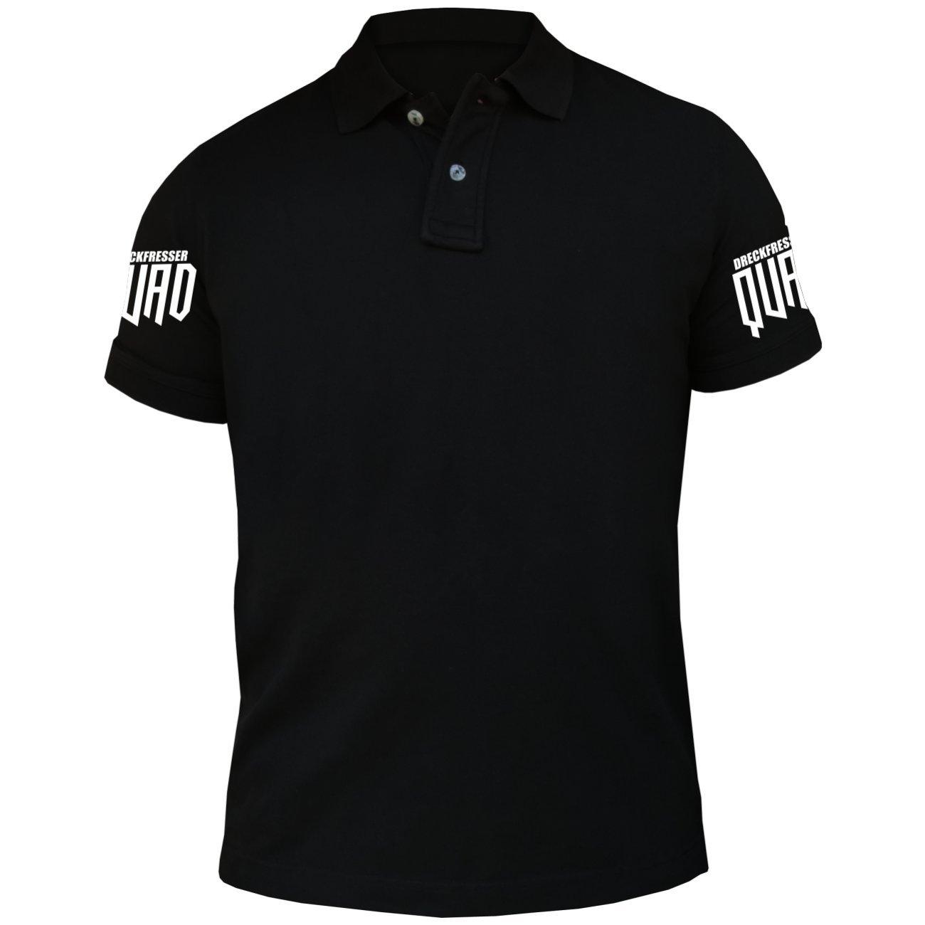 Männer und Herren Polo Shirt Dreckfresser Quad (mit Rückendruck) 41957