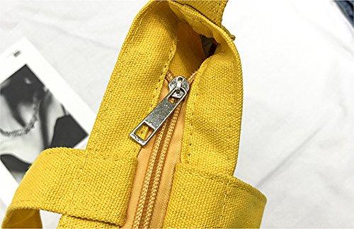À Sac Pour Épaule Bandoulière Fourre À Toile Femmes Sac MINGMO Beige Tout Yellow Les Pour Main Décontracté S1wRTyq
