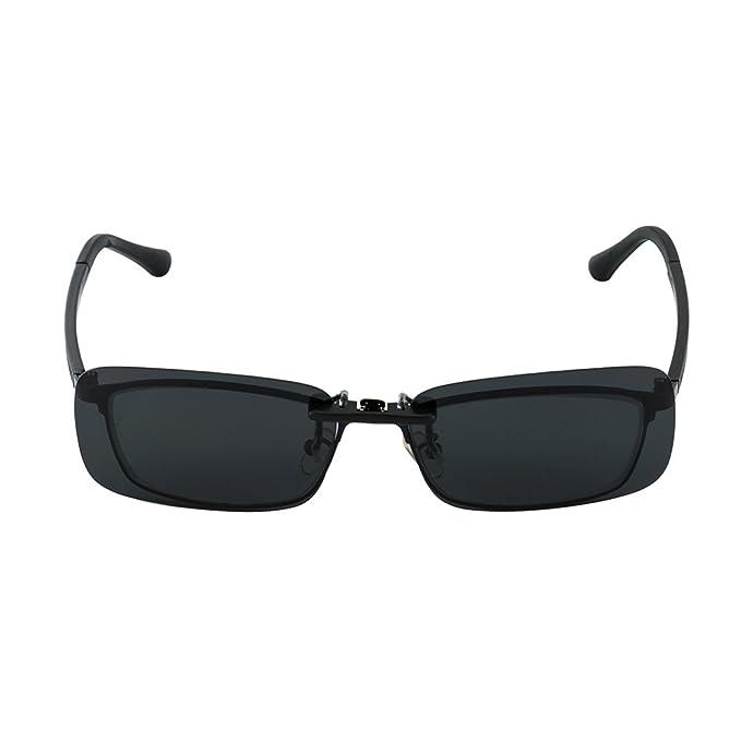 Skysper Gafas de Sol Polarizadas Clip Lentes de Espejo de Retro Vintaje Marco de Metal Hombre Mujer Unisex Deportes: Amazon.es: Deportes y aire libre