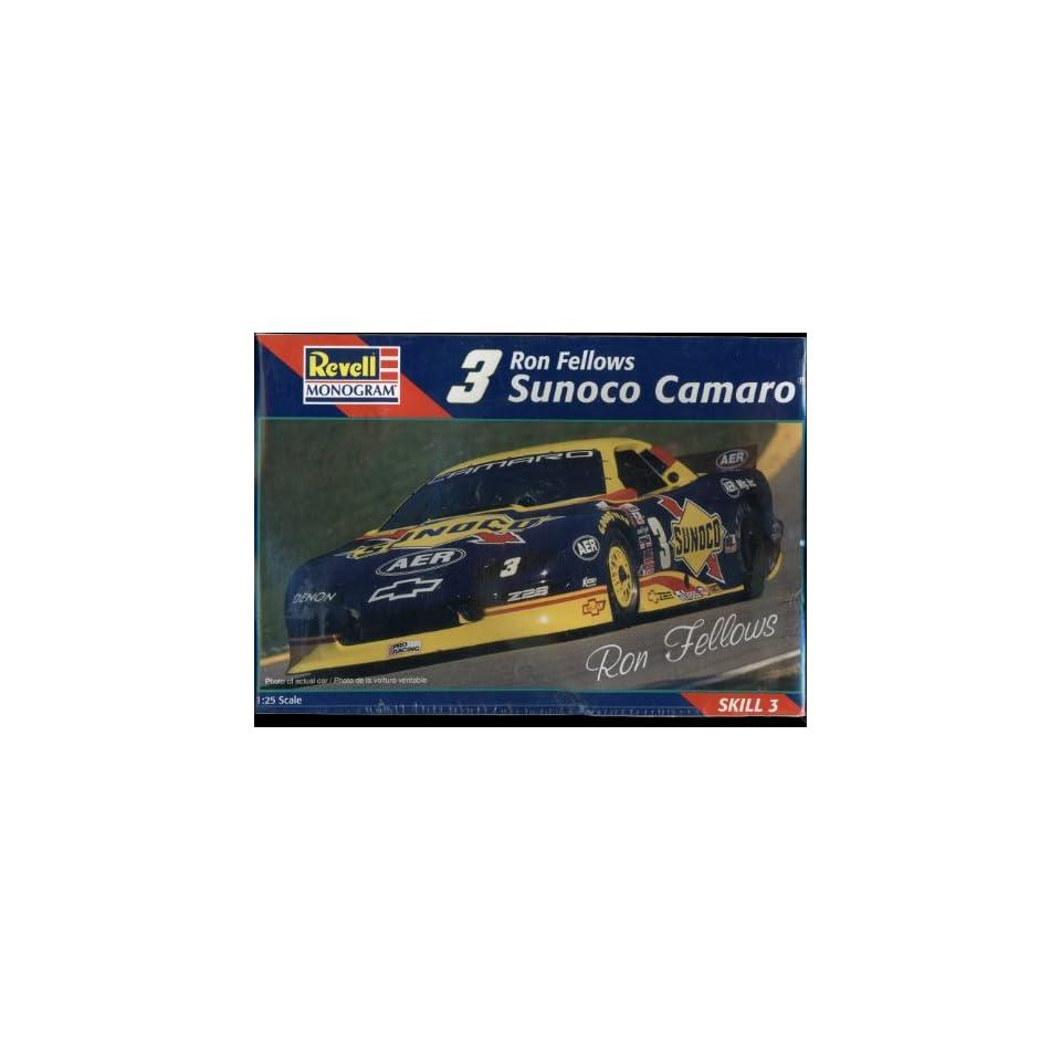 Revell Monogram Ron Fellows #3 Sunoco Chevrolet Z28 Camaro 125 Scale Race Car Model Kit Skill 3