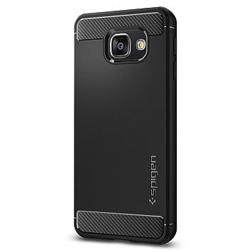 Funda Galaxy A3 2016, Spigen [Rugged Armor] Resilient [Negro] Protección Extrema y Robusto diseño con acabado mate, Funda Samsung Galaxy A3 2016, ...
