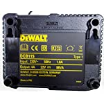 Dewalt-DCH273NT-XJ-Tassellatore-SDS-Plus-a-batteria-18-V-con-percussione-DWALT-DCB115-QW-Caricabatterie-per-Piattaforma-XR-Litio-per-Batterie-108-V-144-V-e-18-V-fino-a-50-Ah