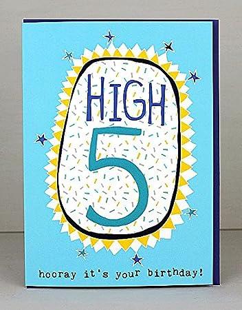 Molly Mae Ts15 Geburtstagskarte Für Jungen Zum 5 Geburtstag Amazon