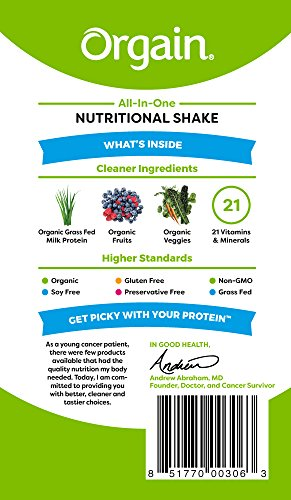 Orgain Organic Nutrition Shake, Strawberries & Cream, Non-GMO, Kosher, Gluten Free, 11 Ounce, 12 Count, Packaging May Vary by Orgain (Image #2)