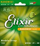 Elixir Strings Mandolin Strings w NANOWEB Coating, Medium (.011-.040)