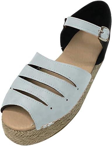 Chaussures femme en cuir bout ouvert talons compensés Chaussons Sandales Chaussures D/'été 13 cm