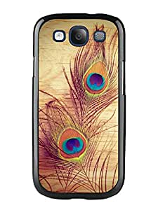 Hot Sale Samsung Galaxy S3 I9300 Case ,Unique And Beautiful Designed Samsung Galaxy S3 I9300 Case With Peacock feathers Black Phone Case