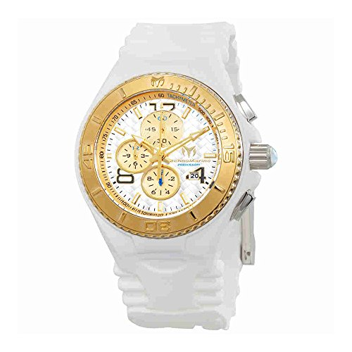 Technomarine Men's 'Cruise' Quartz Stainless Steel and Silicone Casual Watch, Color:White (Model: TM-115109)