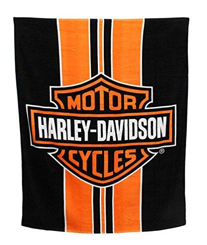 Harley-Davidson Stripe Bar & Shield Large Beach Towel, 54 x 68 inch NW536883