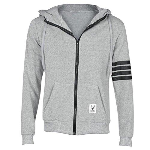 Hoody Fleece Xl Hoodie L Mens Gray Zipped Xxl Size Xxxl M Sweatshirt Plain fqzEt