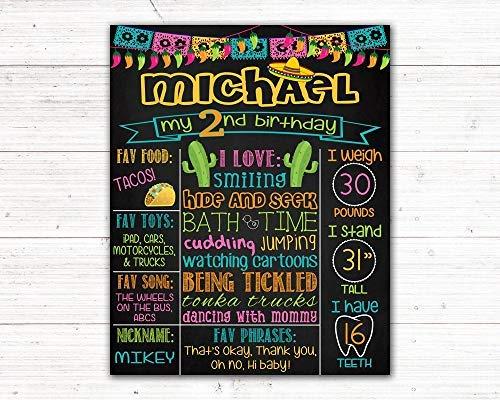Cinco De Mayo Printables (bawansign Toddler Fiesta Cinco De Mayo Mexican Birthday Chalkboard Sign Printable Digital)